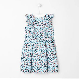 New Jacadi Girl's Cherry printed dress size 6
